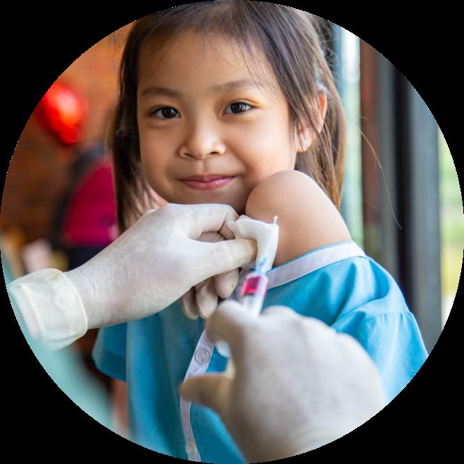 世界の子供にワクチンを